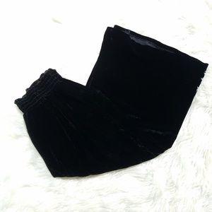 Coldwater Creek Black Velvet Wide Leg Culottes PXL
